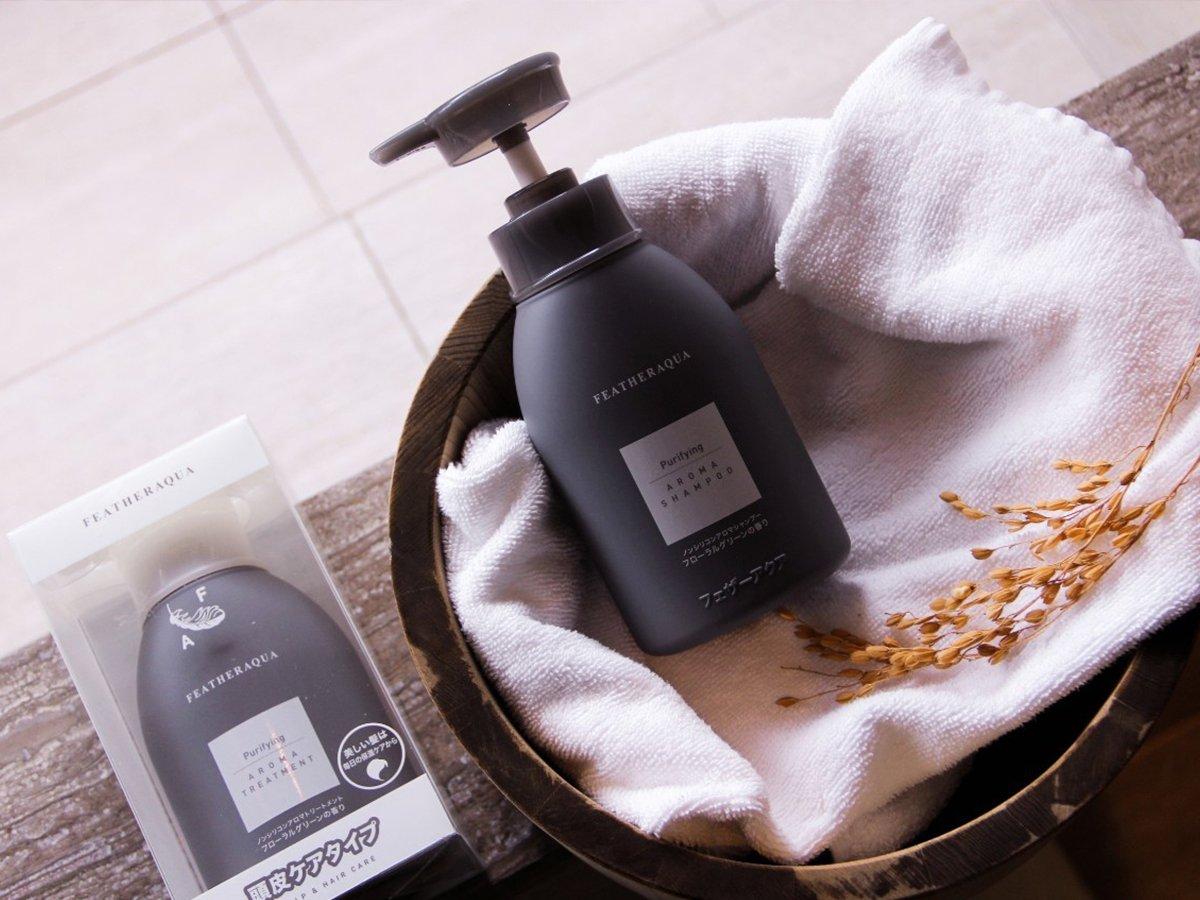 日本FEATHERAQUA 飛飛瓶 、胺基酸洗髮精、享受居家草本療癒的精油洗